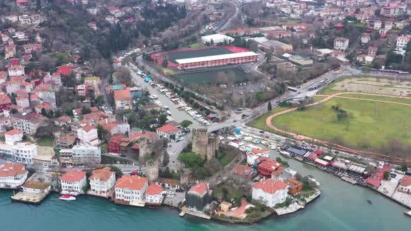 Thumbnail for Istanbul Bosphorus Aerial View 6