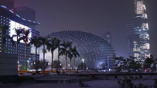 Shenzhen city at night