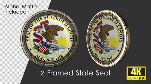 Framed Seal Of Illinois State