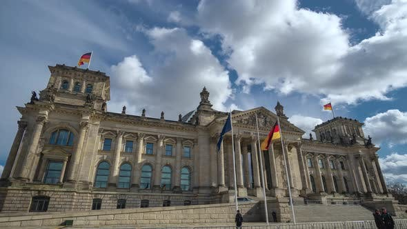 Thumbnail for Golden Hour Hyperlapse Time Lapse of Reichstag Building Berlin Germany