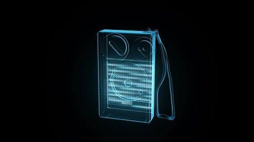 Portable Radio Hologram Hd