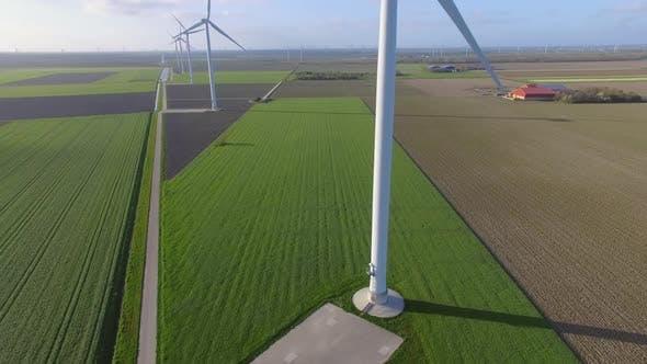 Thumbnail for Wind turbines in fields