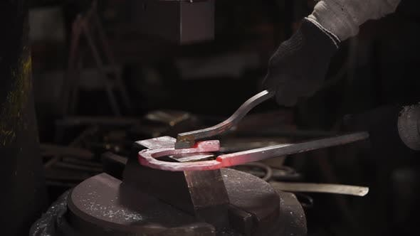 Thumbnail for Stamping of Metal Detail in Forge with Using Hydraulic Hammer