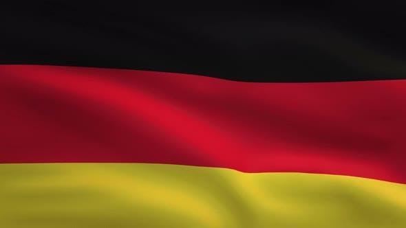 Germany Windy Flag Background 4K