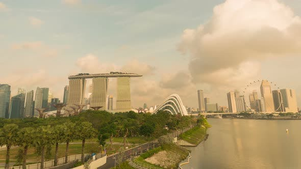 Singapore City Marina Bay Skyline