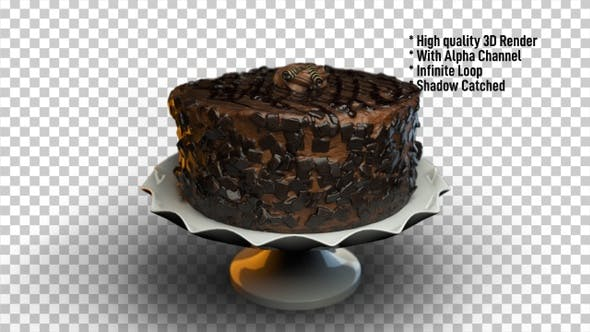 Thumbnail for Chocolate Cake rotating