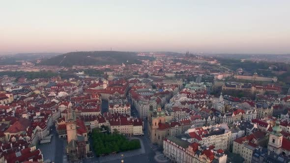 Thumbnail for Aerial View of Old Center of Prague, Tschechische Republik