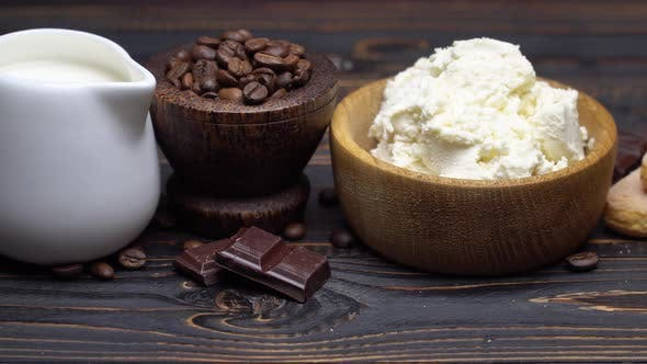 Thumbnail for Ingredients for Cooking Tiramisu - Savoiardi Biscuit Cookies, Mascarpone, Cream, Sugar, Cocoa