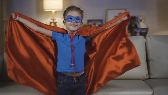 Thumbnail for Little Girl Baby Girl Playing Super Hero
