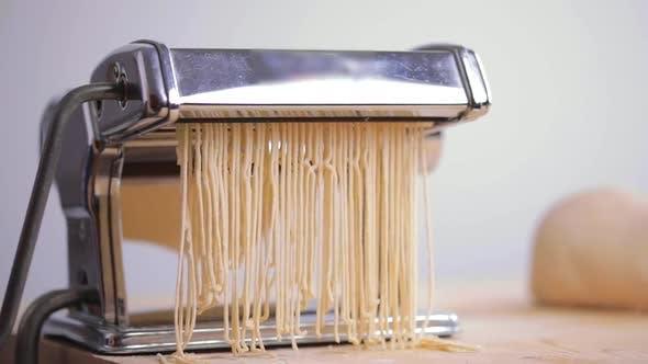 Thumbnail for Homemade Italian Pasta Spaghetti with the Machine