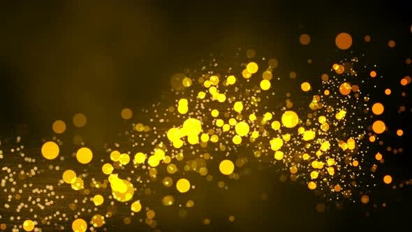 Thumbnail for Gold Spark Abstract Background