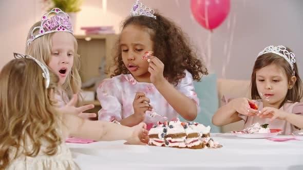 Thumbnail for Little Girls at Birthday Dinner
