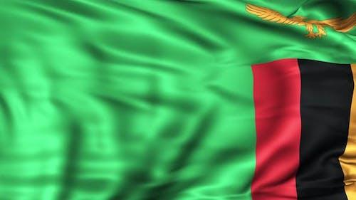 Sambia Flagge