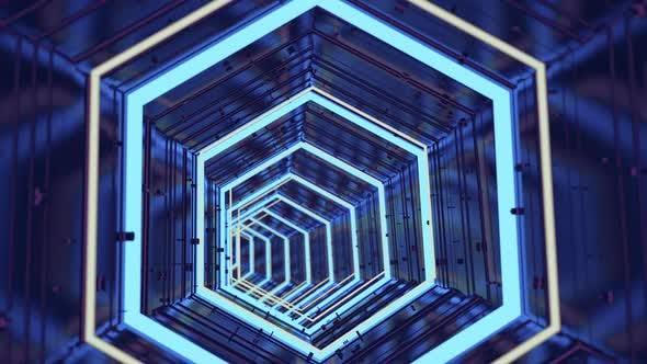 Futuristic Technological Tunnel