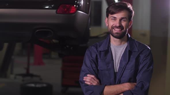Portrait of Smiling Auto Repair Specialist
