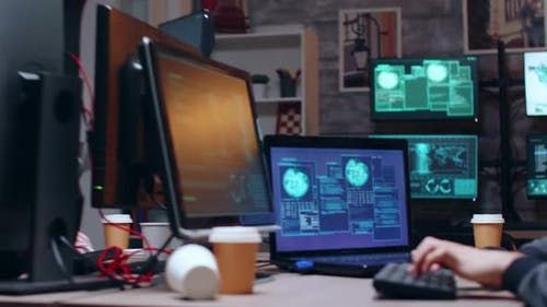 Dangerous Cyber Criminal Writing a Virus