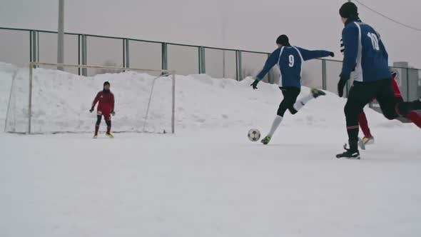 Thumbnail for Soccer Player Scoring a Goal
