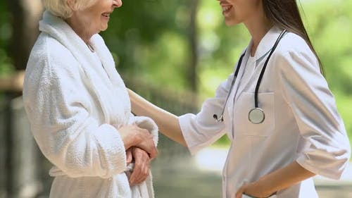 Attentive Physician Interesting in Patient Well-Being, Sanatorium and Spa
