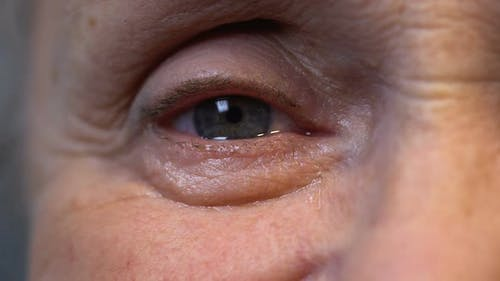 Eye of Old Wrinkled Person, Deep Wisdom and Life Experience Concept, Close-Up