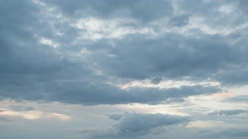 Timelapse Of Cloudy Sky