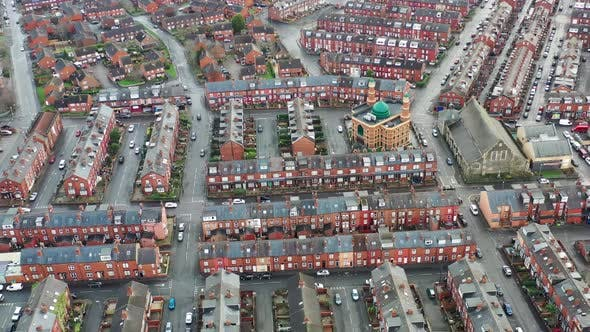 Thumbnail for Aerial photo of the village of Beeston in Leeds West Yorkshire