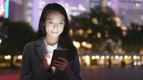 Asian business woman use of smart phone