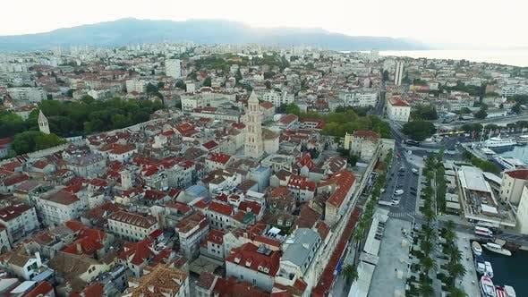 Historical city Split in Croatia.Balkans