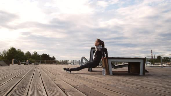 Thumbnail for Woman Doing Exercises Outdoors