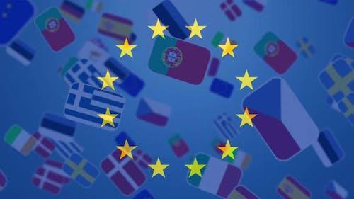 Animation of European Union flag