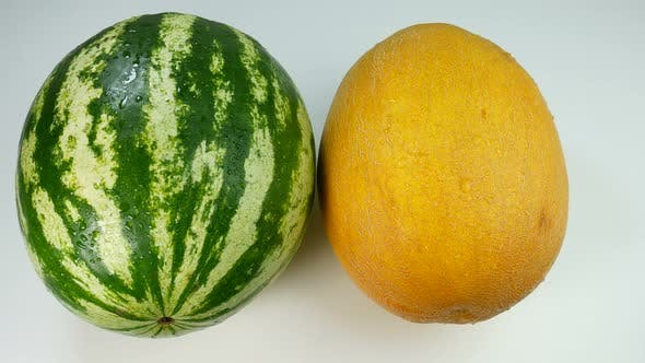 Appetizing Melon And Watermelon