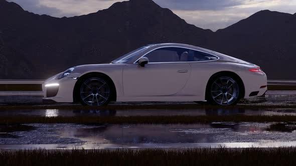 Thumbnail for Weißes Luxus-Sportwagen-Vorderansicht