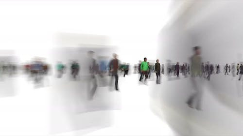 Blurry People Figures Time Lapse
