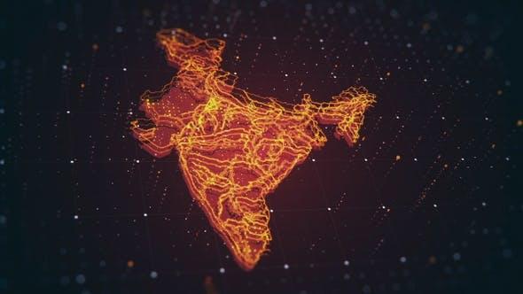 Thumbnail for Red India Map Danger 4 K
