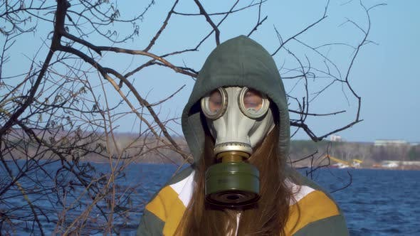 Girl in Gas Masks