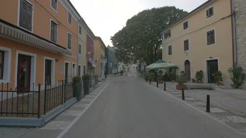 Street in a small town
