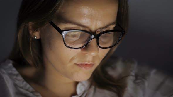Thumbnail for Portrait Of Female Internet User Browsing Online