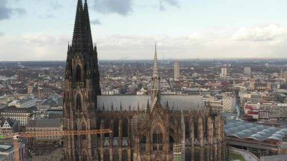 Thumbnail for AERIAL: Cologne Cathedral Skyline on Beautiful Sunny Day