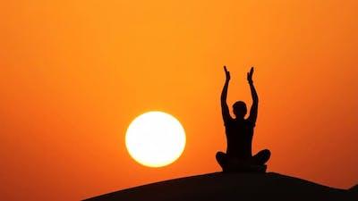 Yoga at Sunset Sitting
