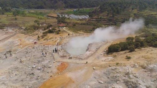 Vulkanplateau Indonesien Dieng Plateau