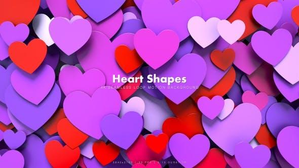 Thumbnail for Hearts Shapes Motion 36
