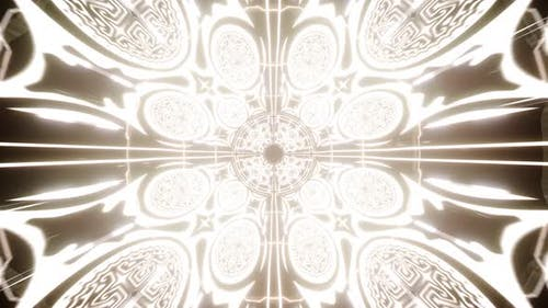 Abstract Glowing Bright Religious Symbol Tunnel 4K 01