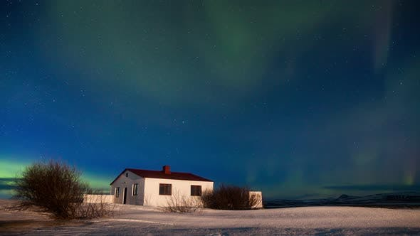 Thumbnail for Northern Lights Over the Cottage
