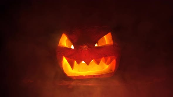 Thumbnail for Scary Halloween Pumpkin in the Dark