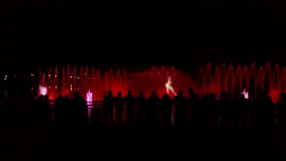 Thumbnail for Fountain With Colorful Illuminations At Night