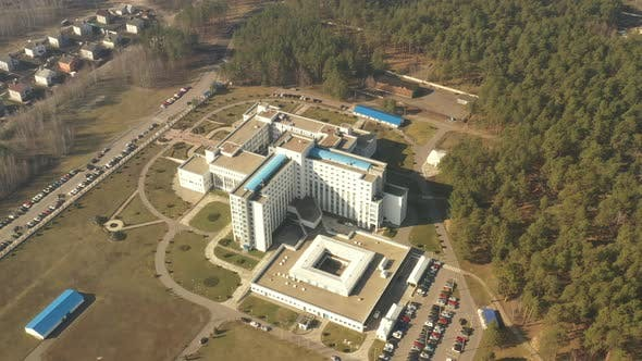 Gomel, Belarus. Aerial View OF Building Of Republican Scientific Center For Radiation Medicine And
