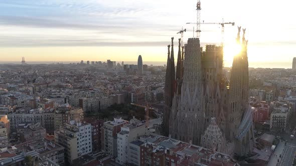 Cathedral of Sagrada Familia in Barcelona - product preview 0