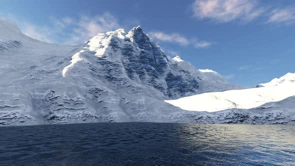 Thumbnail for Snow Mountain And Ocean Landscape