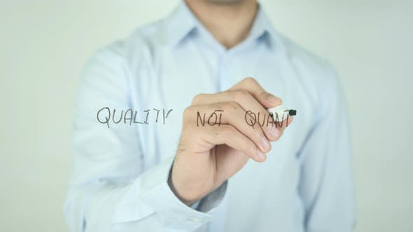Thumbnail for Quality Not Quantity, Writing On Screen