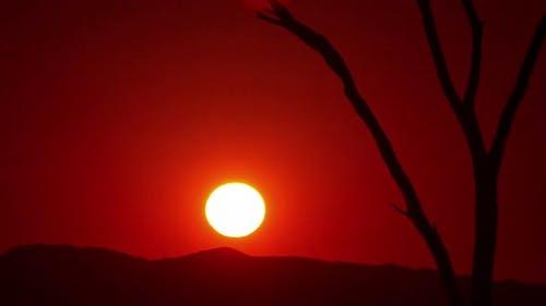 Afrikanischer Sonnenaufgang Zeitraffer