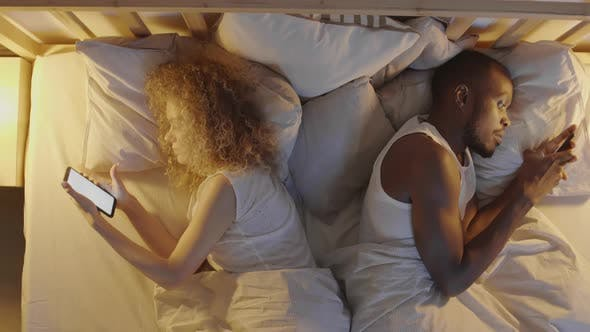 Thumbnail for Mixed-race Couple Is Getting Ready to Sleep